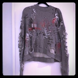 Zara Woman Decon Sweatshirt